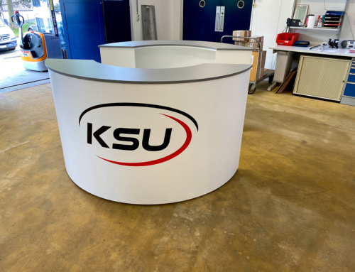 Theke für Showroom – KSU A-Technik AG